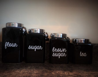 KITCHEN CANISTER DECALS - set of 4