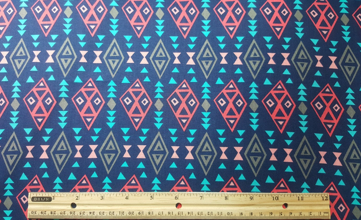 Tribal Print Fabric, Fat Quarter ONLY FQ, Southwestern ...