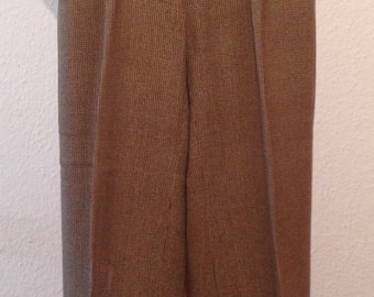1930s mens houndstooth wide leg wool trousers