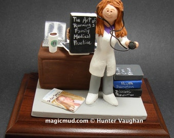 Family Doctor Figurine, Personalized Lady Doctor's Gift, Physician Graduation Gift, Female Doctor Graduation Gift Figurine, Doctor Figurine