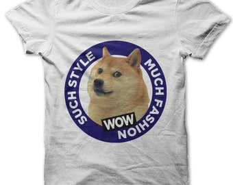 Such Style Much Fashion WOW doge meme t-shirt