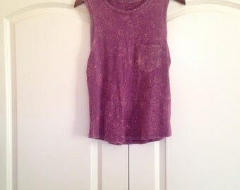 Washed-Out Muscle Tee