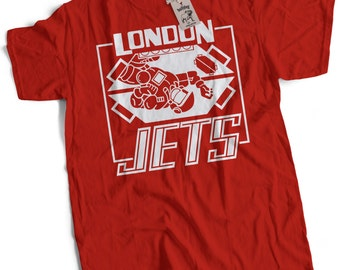 London Jets Mens Premium T-Shirt Choice of 5 Colours Small to 3XL