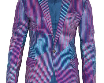 Multi Patterned African Tailored Blazer