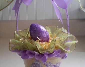 Peat Pot Easter Basket, Spring Basket, Mother's Day Gift Basket, Gift Basket