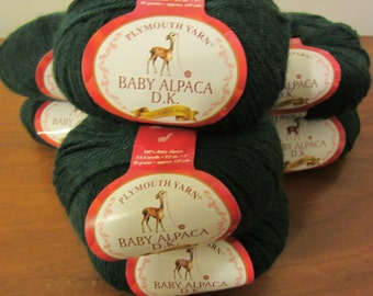 Baby Alpaca DK by Plymouth Yarn in EverGreen - 100% Baby Alpaca