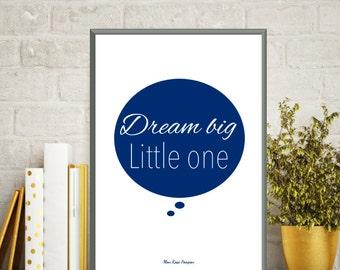 Poster dream big, Baby boy poster, Baby boy love poster, Nursery art boy, Nursery decor wall art, Baby boy decor, Baby boy gift, Art print