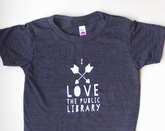 I Love the Public Library - Soft Kids T-Shirt - TINY CABIN