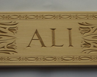 Hand-carved Name Plaque Sign