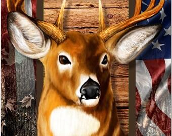 Trophy Deer Camo Flag LAMINATED Cornhole Wrap Bag Toss Decal Baggo Skin Sticker Wraps