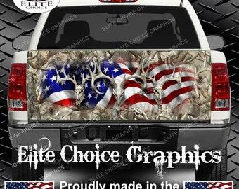 American Buck Obliteration Buck Truck Tailgate Wrap Vinyl Graphic Decal Sticker Wrap