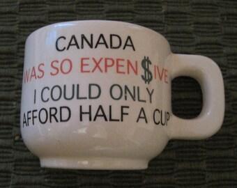 Novelty Tourist Souvenir, Ceramic Half-Mug