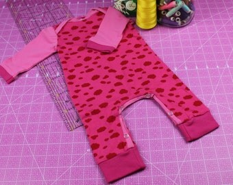 """Long sleeve rompers """"Cloudlets"""" size 62/68"""