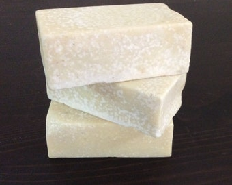 Scrubby Sea Salt &  Rosemary Exfoliating Soap with Silk: Medium Bar
