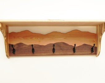 Coat rack hanger with a shelf