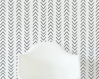 Scandinavian Design Arrow Wallpaper / Traditional or removable wallpaper L332