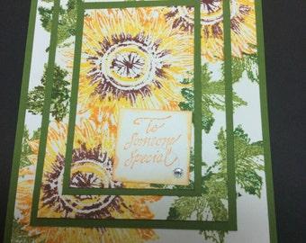 Sunflower Triple Layer Card