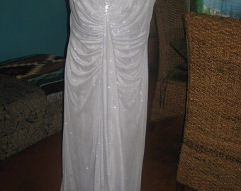 Stunning Silver Glitter Long GOWN for that special occasion
