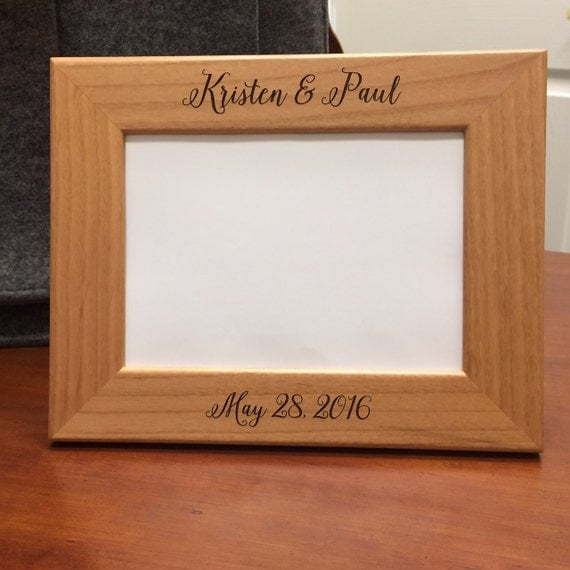 Wedding Gift Personalized Picture Frame : Frame, Personalized Picture Frame, Wedding Gift, Wedding Picture Frame ...