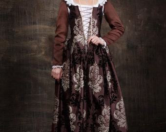 Historical Renaissance dress Venetian carnival dress 16th century clothes court dress !ONLY TO ORDER!