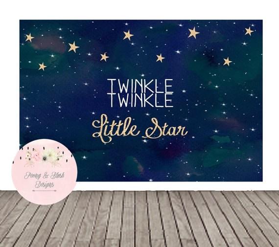 Twinkle Twinkle Little Star Backdrop Twinkle by PeonyBlushDesigns