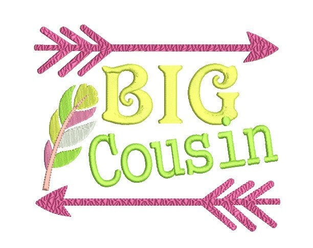 Big Cousin Embroidery Design , Arrow With Feather