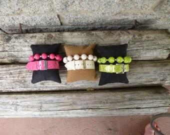 Faux Leather Buckle Bracelet Sets
