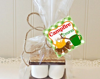 S'MORES CAMPFIRE KITS, S'mores Favor Kits, Bonfire S'mores Kit, Fall S'mores Favors, Fall Party, Holiday S'mores, Fall Favors, Camping Favor