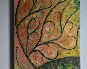 Metamorphosis Dreaming.  An original acrylic painting.