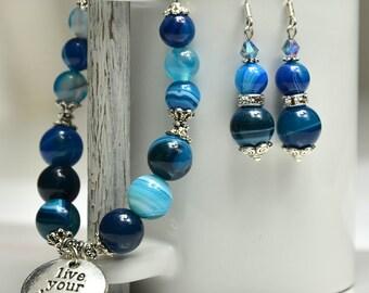 Gemstone bracelet | Womens bracelet | Bracelet for her | Blue bracelet | Gift for her