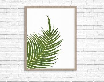leaf print, palm leaf print, tropical leaf print, nature art print, botanical art print, botanical print botanical wall art botanical poster