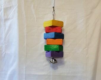Six pack of Blocks parrot toy bird toys
