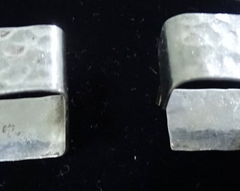 Rare Square Hammered Sterling Earrings
