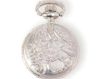 Steampunk Small Watch Case - Antiqued Silver (STEAM093)