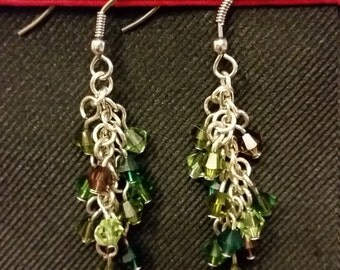 Handmade chandelier earings