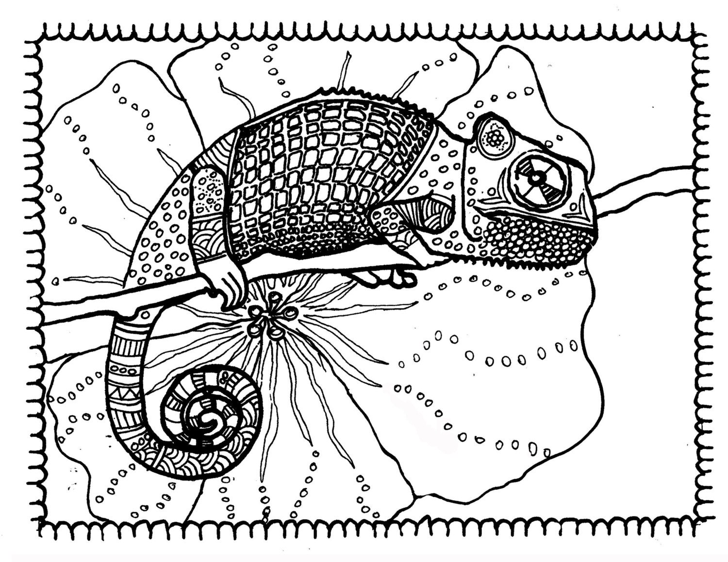 Gecko 8 by 11 coloring page adult coloring by ...