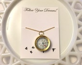 Gold Compass Necklace, Compass Charm Necklace, Compass Pendant, Gold Compass Charm, Adventure Necklace, Bridesmaid Necklace, Gift for Her