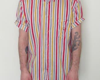 90s Paul and Shark Pinstripe Shirt