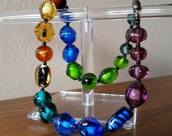 Sent Sisters Murano Glass Multicolored Necklace