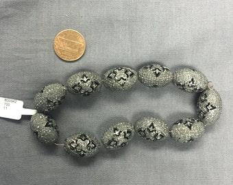 All Diamond Pave Beads
