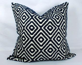 Dark blue throw pillow case 20x20 decorative boho pillow cases blue for bed 18x18 pillow cover 24x24 pillow boho pillow sofa cushion covers