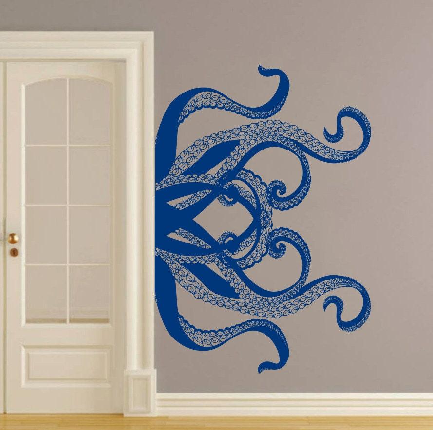 octopus wall decal tentacles vinyl sticker decals kraken. Black Bedroom Furniture Sets. Home Design Ideas