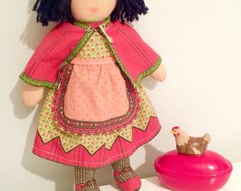 Handmade Mediterranean Girl Doll