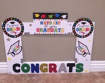 Graduation photo frame, photo prop, graduation, party decorations