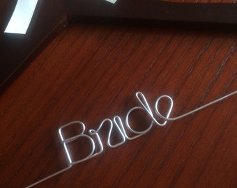 WIRE ONLY/DIY/Do it Yourself/Custom Hanger/Wedding/Bride/Bridesmaid/Bridal Party/Gift/Favor/Personalized/Moh/Prom/Communion/Birthday/Craft