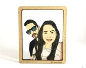 Customized Character Fridge magnet / Wall Frame - Handmade - Hand painted - Laser cut - nvillustration