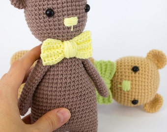 Crochet toy Amigurumi Knitted toy Baby toys Stuffed bear Baby gift soft toy Gift for boy girl Teddy bear Knitted bear Handmade  bear