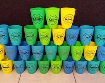 Nice treat cups with name