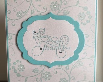 C9 A Million & One Thanks, Handmade card, Thank you card