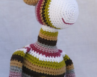 Giraffe plush in crochet